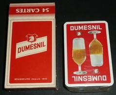 """Rare NEUF Jeu De 54 Cartes Publicitaires, Pub """"DUMESNIL"""" Bières Bière, Dos Rouge - 54 Cartes"""