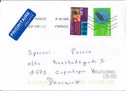 France  Cover Sent To Denmark 23-5-2011 - Frankrijk
