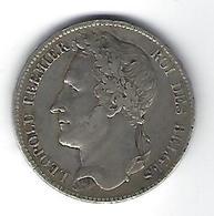 Leopold I 5 Frank  -  Zilver 1833 Franstalig  -  ZEER FRAAI+  M8a - 11. 5 Francs