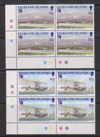 Falkland Islands 1999 Philexfrance / First Flight Over Falkland Islands 2v Bl Of 4 (corner) ** Mnh (39711A) - Falklandeilanden