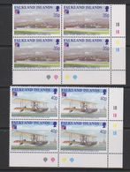 Falkland Islands 1999 Philexfrance / First Flight Over Falkland Islands 2v Bl Of 4 (corner) ** Mnh (39711B) - Falklandeilanden