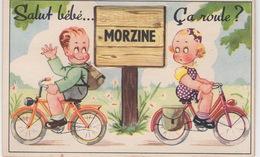 CPA : Carte  à Système Animée De Morzine Avec Multivue ,  Humour - Mechanical
