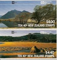 NEW ZEALAND, 1987, Booklet 43/44, Pair Booklets, Overprint CAPEX - Libretti