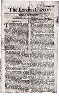 1669 London Gazette, Number 439,  An Early, Single Sheet Newspaper.  Ref 0566 - Historical Documents