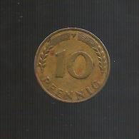 DEUTSCHLAND / GERMANY - 10 PFENNIG ( 1949 - F ) BANK DEUTSCHER LANDER - [ 7] 1949-… : RFA - Rep. Fed. Tedesca
