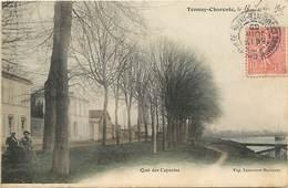 - Charente Maritime -ref-H305- Tonnay Charente - Quai Des Capucins - Carte Colorisee Bon Etat - - France