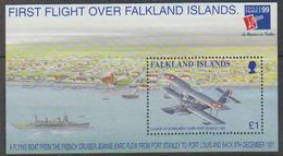 Falkland Islands 1999 Philexfrance/First Flight Over Falkland Islands M/s ** Mnh (39714) - Falklandeilanden