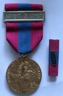 Médaille + Barette Bâtiments De Combat Armée Française République Française Armée Nation Défense Nationale - Francia