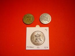 LOT PIECES 1, 2.5 ET 25 ECU ARGENT TEMPORAIRE VILLE DE MAZAMET - Euros Of The Cities