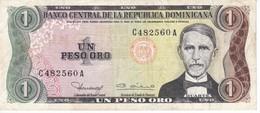 BILLETE DE LA REPUBLICA DOMINICANA DE 1 PESO ORO SIN FECHA  (BANKNOTE) - República Dominicana