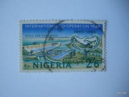 NIGERIA 1965. International Co-operation Year. 2s.6d. Kainji (Niger) Dam. SG 168. Used. - Nigeria (1961-...)