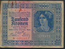 °°° AUSTRIA 1000 KRONEN 1922 °°° - Austria