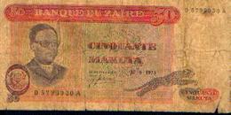 ZAÏRE – 50 Makuta – 30/06/1973 - Zaïre