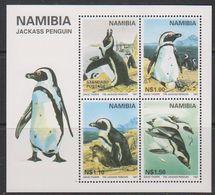 Namibia 1997 Jackass Penguins M/s ** Mnh (39717) - Namibië (1990- ...)