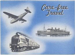Dépliant Pub : Care-free Travel, London,Cox & Kings Limited ( Voyages, Train, Avion, Bateau ) - Publicité
