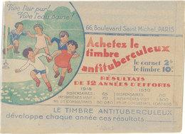 Carnet Complet Timbres Antituberculeux / Nestlé  ( Dessin De Dawson De L'autre Côté ) - Publicité