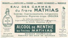 Buvard Eau Des Carmes Du Frère Mathias, Marseille - Buvards, Protège-cahiers Illustrés