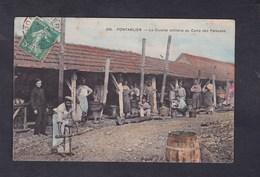 Pontarlier La Cuisine Militaire Au Camp Des Pareuses ( Réhaussée à La Gouache Suzanne Vincent Fille De  René Vincent ) - Pontarlier
