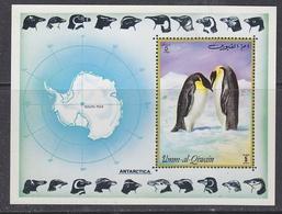 Umm-al-Qiwain 1972 Antarctica Penguins M/s  ** Mnh (39718) - Postzegels
