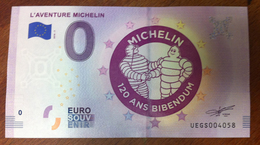 L'AVENTURE MICHELIN 120 ANS BIBENDUM BILLET 0 EURO SOUVENIR 0 EURO SCHEIN 2018 - Cars