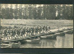 CPA - Pont De Bateaux, Très Animé - Guerre 1914-18