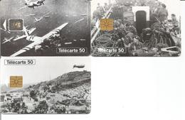 3 Télécartes ANNIVERSAIRE DU DEBARQUEMENT JUIN 1944 - 50 U GEM Et SC5 - 06/94 Utilisée (N°454, 455, 458) - 1994