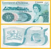 St Helena 5 Pounds P-7b 1981 UNC - Saint Helena Island