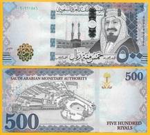 Saudi Arabia 500 Riyals P-42 2017 (Prefix A) UNC - Arabie Saoudite