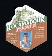 étiquette Fromage Rocamadour Fermier  Michelle Hereil Alvignac 46  F 46 208 01 CEE - Cheese