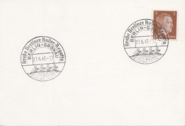 """DEUTSCHES REICH 1943 - 3 Pfg Hellbraun Deutsches Reich Auf Postkarte Mit Sonderstempel """"Große Berliner Ruderegatta"""" - Alemania"""