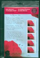 Canada John McCrae In Flanders Fields WWI Souvenir Sheet Block Of Five Special Pack MNH 2015  A04s - Blocchi & Foglietti
