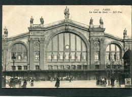 CPA - PARIS - La Gare Du Nord, Animé - Métro Parisien, Gares