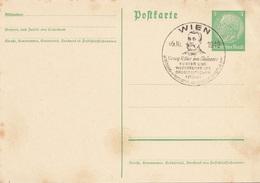 """DEUTSCHES REICH 1943 - 5 Pfg Hellgrün Deutsches Reich Auf Postkarte Mit Sonderstempel """"Georg Ritter Von Schönerer"""" - Alemania"""