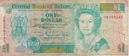BILLETE DE BELICE DE 1 DOLLAR DEL AÑO 1990   (BANKNOTE) PEZ-FISH - Belize