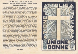 AZIONE CATOLICA ITALIANA - Consiglio Diocesano NAPOLI Tessera Per L'Anno 1939 - 1900-44 Victor Emmanuel III.