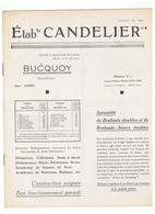 ETBts  CANDELIER à BUCQUOY (P D C ) - Advertising