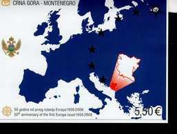 CEPT 50 Jahre Europamarken Montenegro Block 3 MNH ** Postfrisch - Montenegro