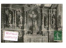 29 Plomodiern Chapelle Ste Sainte Marie Du Menez Hom Autel Lateral Droit Cachet 1909 - Plomodiern