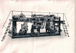 Presse Début Du XXème Siècle - Gravure D'époque - Tirée à Neuchâtel ? Suisse ( 30.5 X 21.5 Cm) - Maschinen