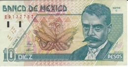 BILLETE DE MEXICO DE 10 PESOS AÑO 1994 DE EMILIANO ZAPATA   (BANKNOTE) - México