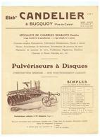ETBts  CANDELIER à BUCQUOY (P D C ) DOUBLES TANDEM - Advertising