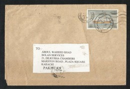 OMAN Air Mail Postal Used Cover Oman To Pakistan Dhow Boats Ship - Oman