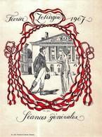 Février 1907 - Zophingue Séances Générales - Neuchâtel - Suisse  ( Carton 22 X 16 Cm) - Posters