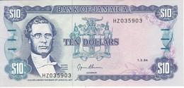 BILLETE DE JAMAICA DE 10 DOLLARS DEL AÑO 1994  (BANKNOTE) - Jamaica