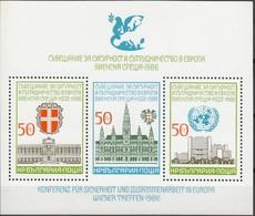 For Cooperation In Europe Vienne - Bulgaria / Bulgarie 1986 - Block  MNH** - European Ideas