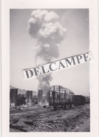 VAISE  LYON 1944 - Photo Originale De L'explosion D'une Bombe à Retardement ( Rhône ) - Places