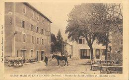 St-Martin-en-Vercors (Drôme) - Route De Saint-Julien Et L'Hostel Istre, Fontaine - Carte Non Circulée - Francia