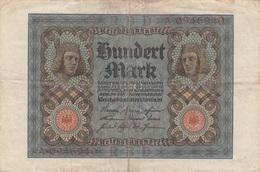 100 MARK Reichsbanknote 1920, Umlaufschein, Gebrauchsspuren, Gefaltet - 1918-1933: Weimarer Republik