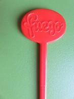 134 - Touilleur - Agitateur - Mélangeur à Boisson - Sirop Fuego - Orange - Swizzle Sticks