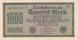 1000 MARK Reichsbanknote 1922, Ungefaltet, Sehr Gute Erhaltung - 1918-1933: Weimarer Republik